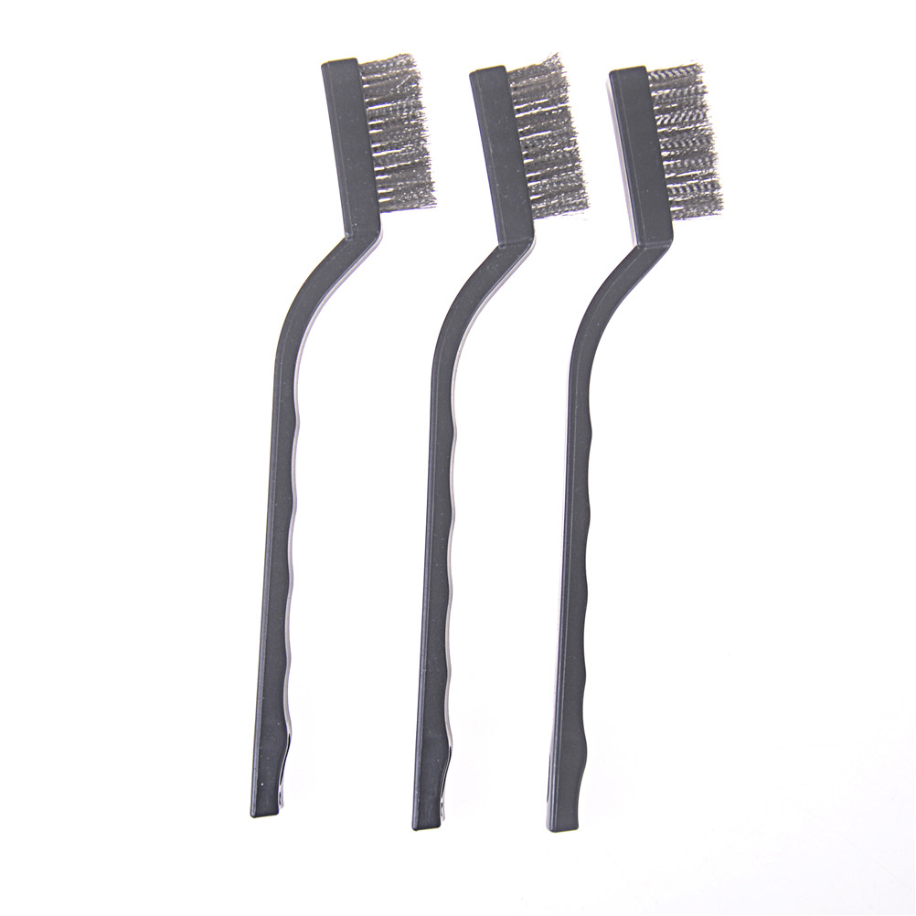 12pcs Stainless Steel Brush Cleaning Brushes Wire Spark Wheel Rust Scrub Removal