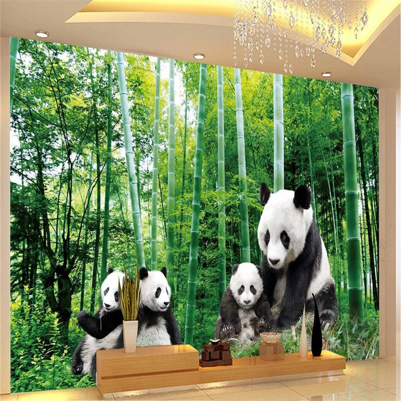 Beibehang Wall Paper Luxury Quality Hd Panda Bamboo Green World Of Natural Beauty Large