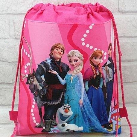 2016 миньон рюкзак gmy школы нетканого строка обуви shopping bag мешок школы для мальчиков и девочек дети подарки ко дню рождения все матч