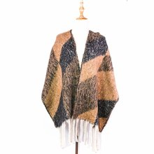 winter scarf shawls wraps fashion scarfs thick capes femme large acrylic reversible warm brand poncho