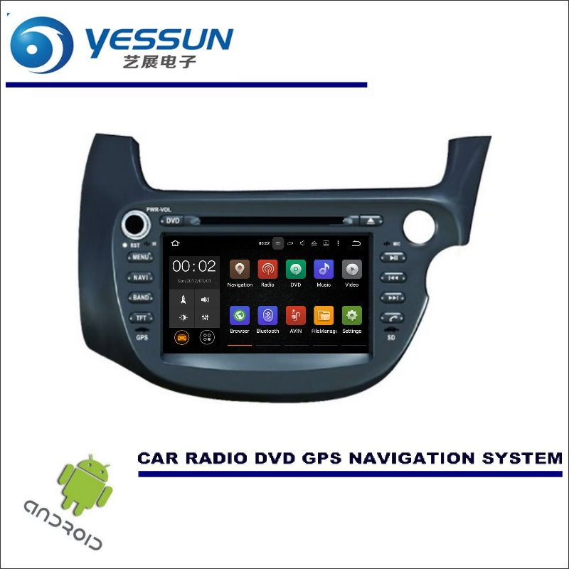 YESSUN Wince / Android Car Multimedia Navigation For Honda Fit / Jazz 2007~ 2014 RHD CD DVD GPS Player Navi Radio Stereo Screen цена