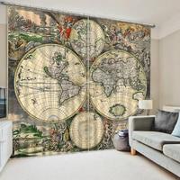 European Curtains Photo Painted 3D Curtain Living room map curtains