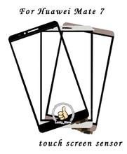 Черный Белый Передняя Стеклянная Линза + Сенсорный Экран Digitizer Для Huawei Mate 7 Замена для ЖК-Экран Мобильного Телефона Чехол