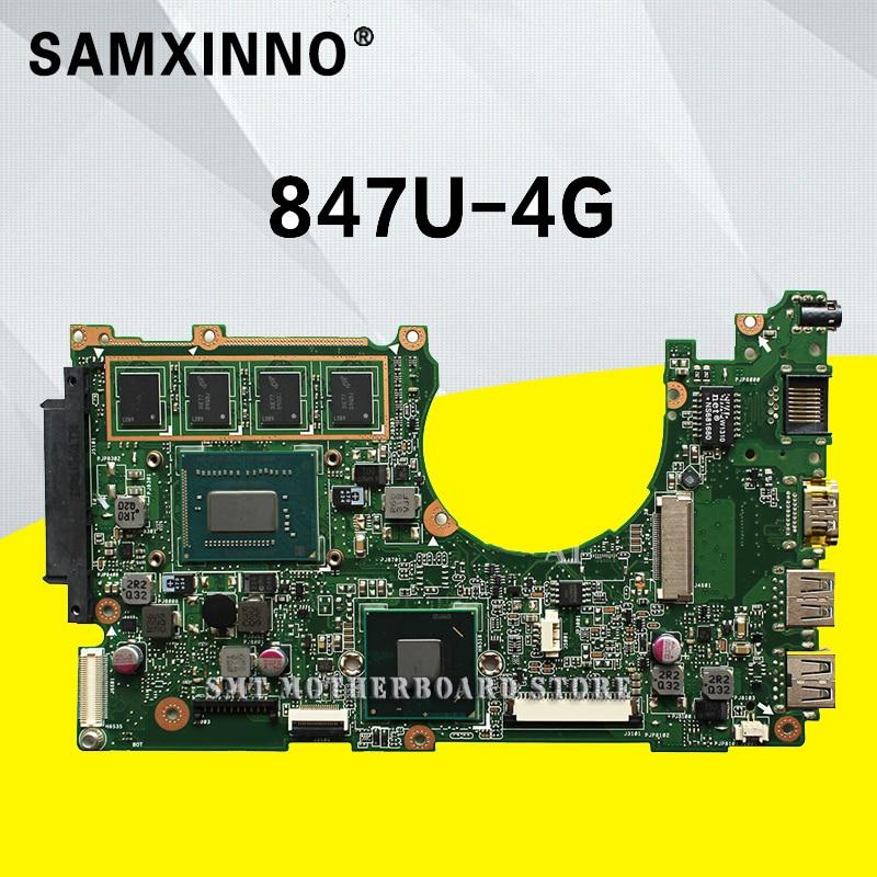 цена X202E Motherboard 847U-REV:2.0 For ASUS Q200E X201E S200E laptop Motherboard X202E Mainboard X202E Motherboard test 100% ok