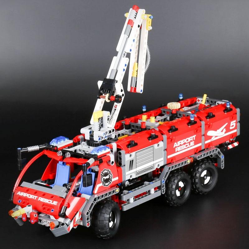 Lepine Technic 20055 Mechanical Series the Rescue fire Vehicle Building Blocks Bricks Toys Compatible Legoinglys technic 42068 the rescue
