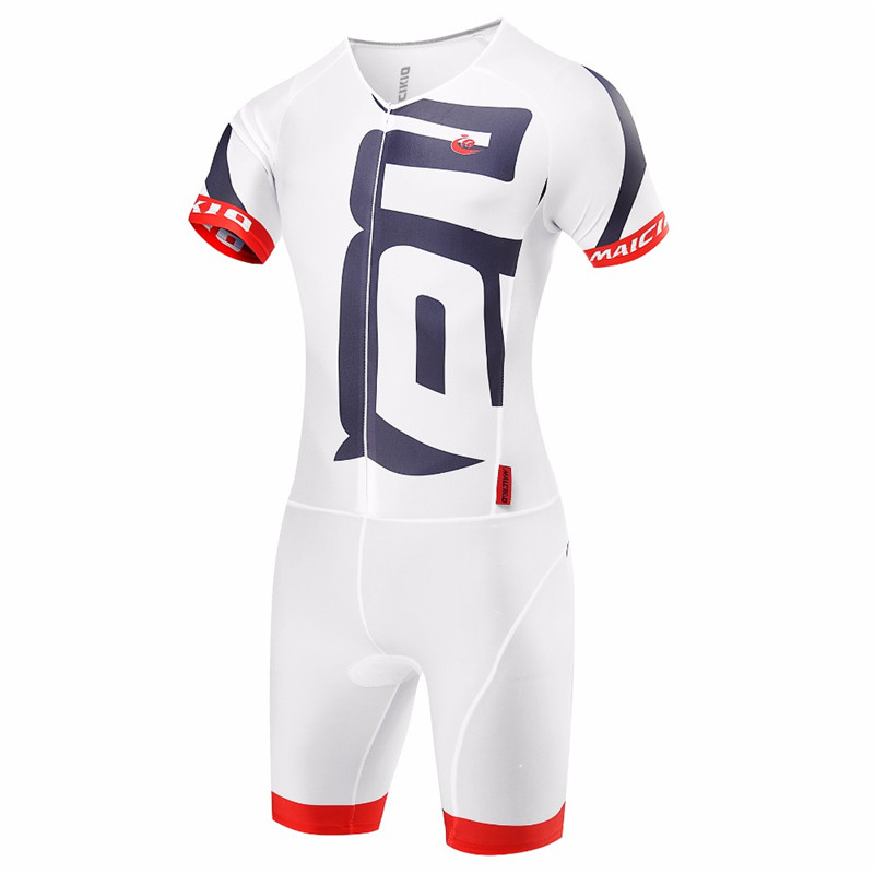 Malciklo White Cycling Skinsuit Sets Maillot Ropa Ciclismo Hombre Cycling Clothing Triathlon Suit Bike Jerseys Wetsuit