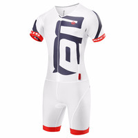 Malciklo White Cycling Skinsuit Sets Maillot Ropa Ciclismo Hombre Cycling Clothing Triathlon Suit Bike Jerseys Wetsuit Men