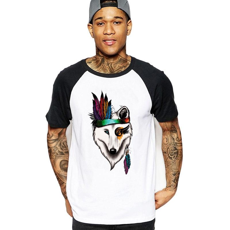 2019 De Wolf Indian Soul Prinses Mannen Streetwear T-shirts Harajuku Camisa Masculina Man Tshirt Veste Kleding Pokemon T-shirt