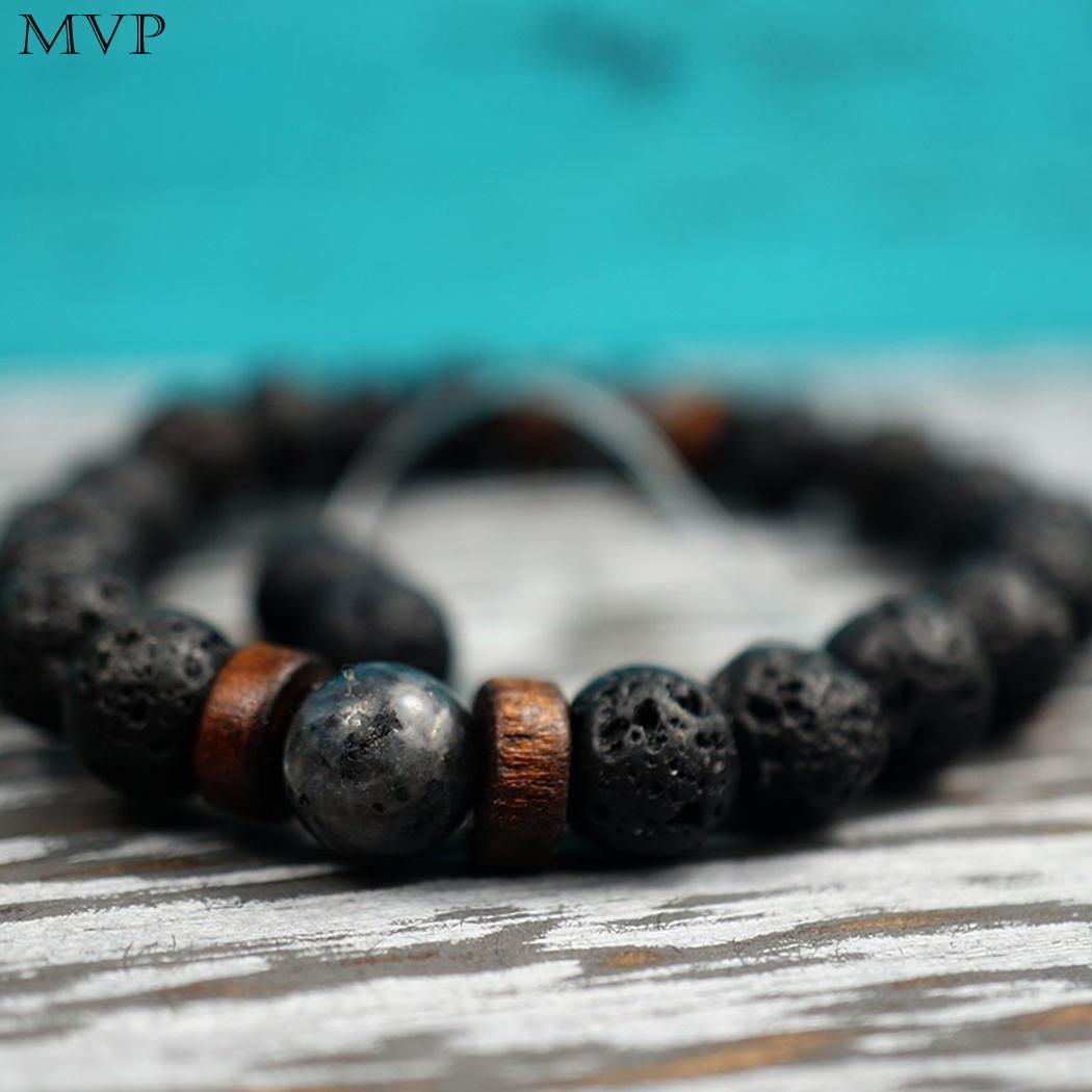79ce1ce271e8c US $1.45 |FANALA Natural Lava Rock Stone Beads Strand Bracelet Wooden bead  Accessories Black Rock Stone Men/Women Jewelry Gift-in Strand Bracelets ...