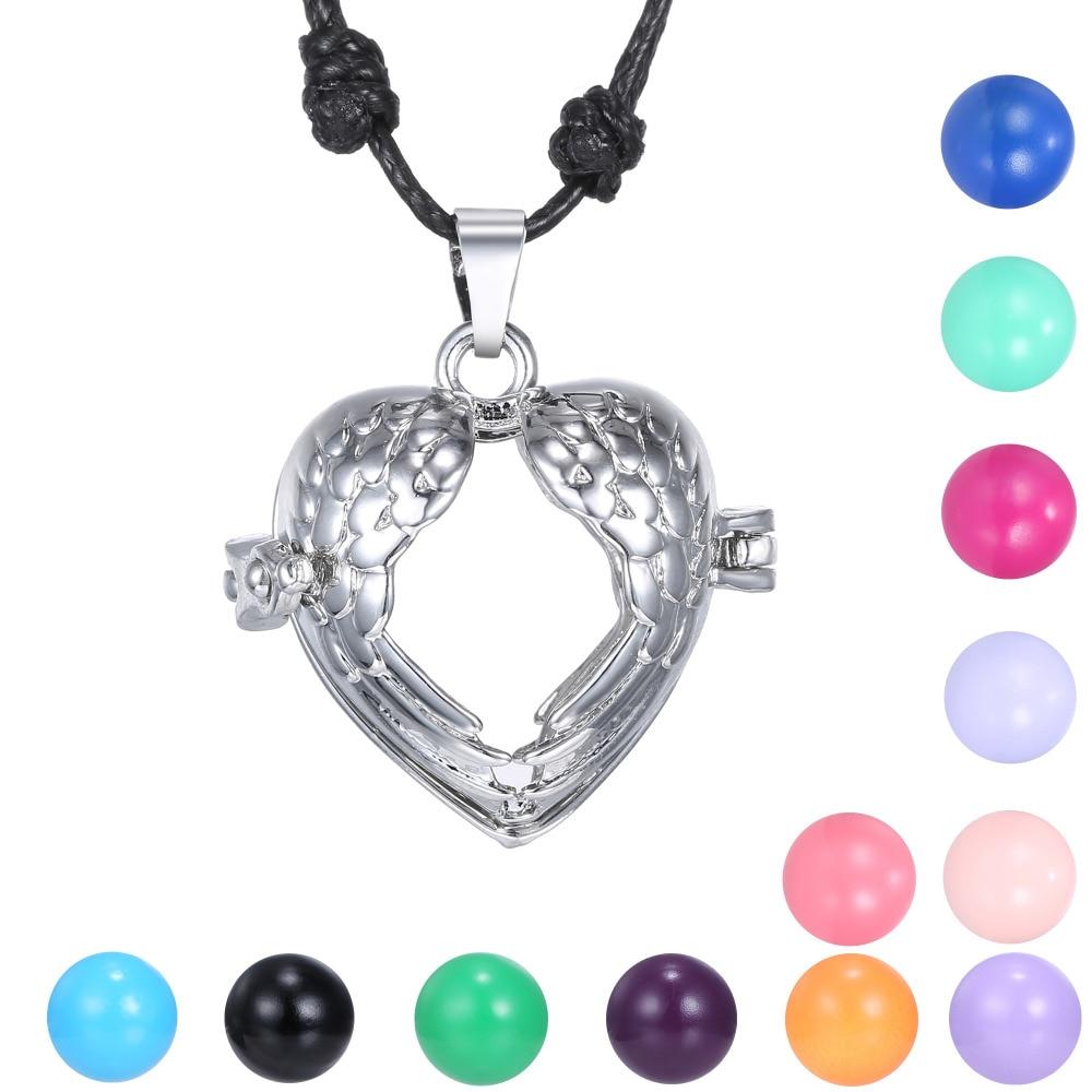 Hollow Heart Pendant Locket Pregnancy Bola Necklaces ...