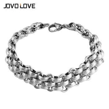 399609cffee5 Cadenas únicas para hombre pulseras 316L acero Stianless 21 cm Curb Cuban  Link cadena pulsera para Mujeres Hombres joyería brazalete de plata