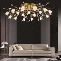 ZX Европейский Гостиная кристалл потолочный светильник контракт сладкий Ресторан Спальня люстра LED Дистанционное управление цветок дом лам