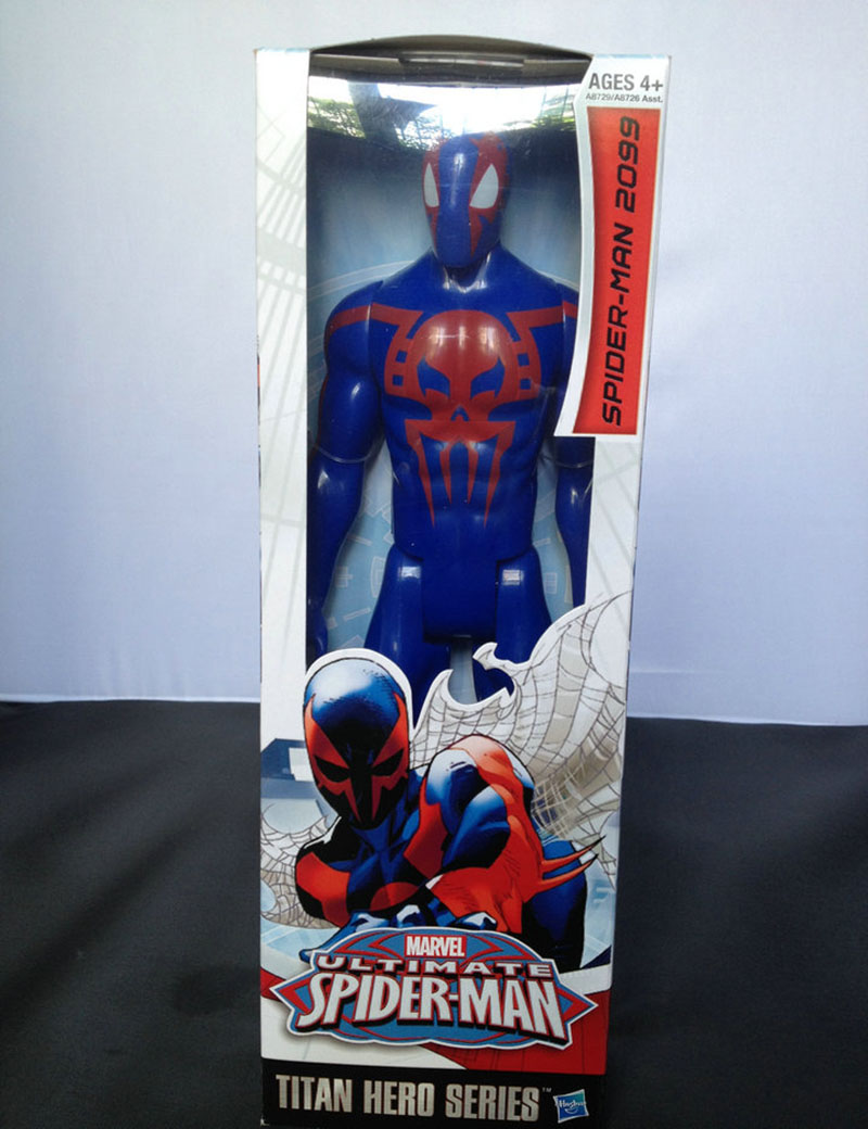 Hot sale PVC toy The Avengers figures <font><b>agent</b></font> <font><b>venom</b></font> toy doll baby <font><b>spider-man</b></font> 2099 Emitting Shield Christmas gift Free Shipping