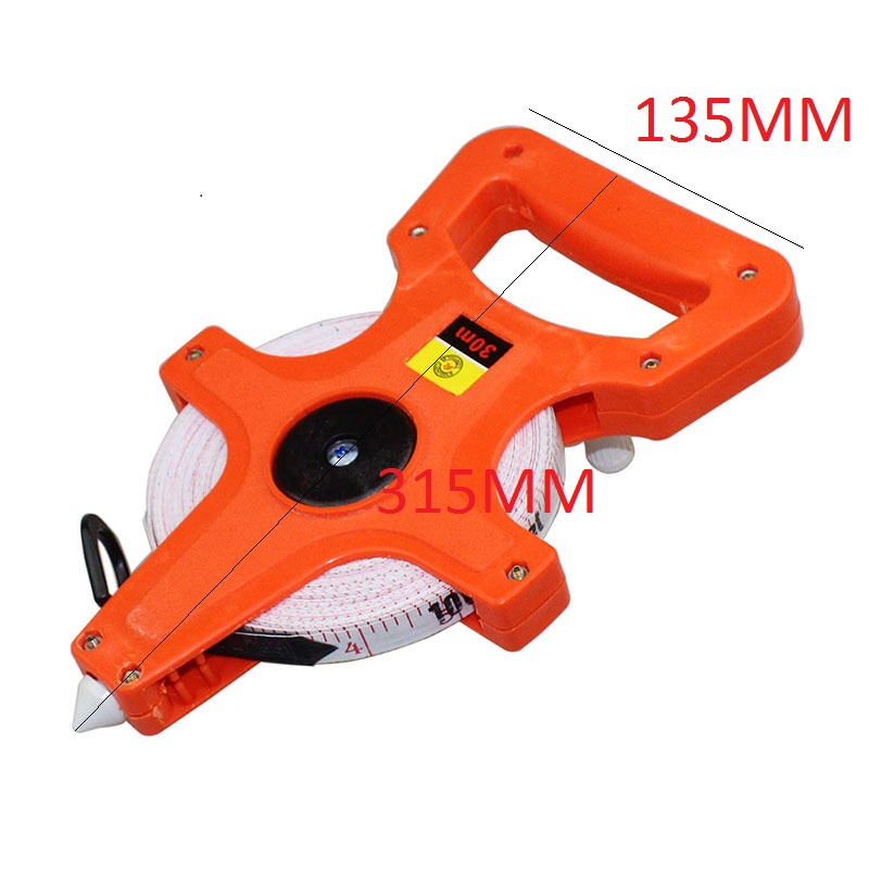 30M Meter Open Reel  Tape Measure Inch Construction Measure Tool Scale Impact Resistant Fiber Glass Reel Insert Measure Tools