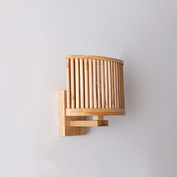 Modern minimalist wood wall lamp wood color creative aisle wall modern minimalist wood wall lamp wood color creative aisle wall sconce bedside reading lights hot sale art decoration in wall lamps from lights lighting mozeypictures Gallery