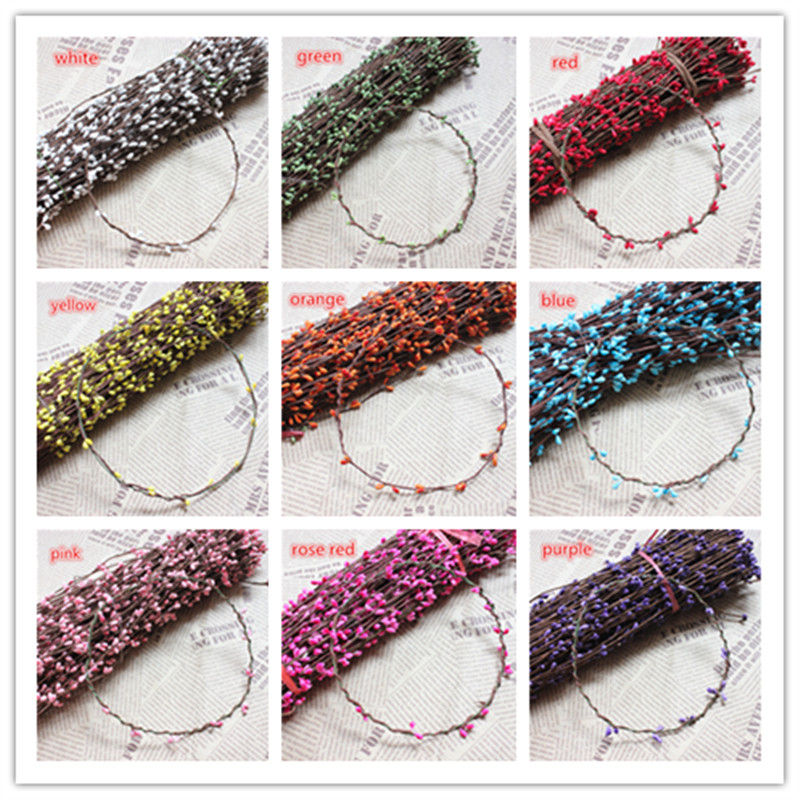 10PCS 40cm Rattan Artificial Flower Wreath Small Berry Seed Berry Garland for DIY Banquet Wedding Party
