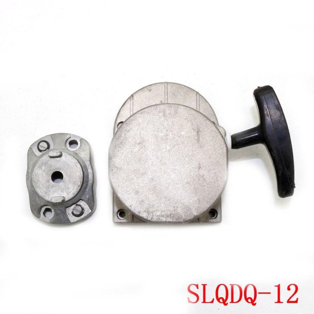 Arranque de tracción de aleación para motor de bicicleta motorizado 49cc 66cc 80cc, dispositivo de tracción de manillar de arranque
