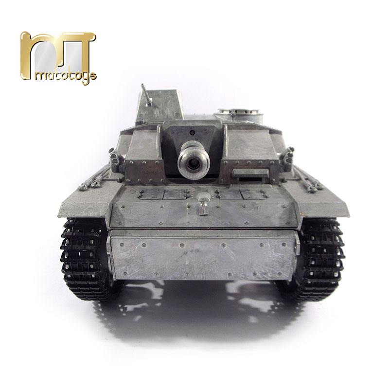 MATO Tank 1/16 Complete German Stug III RC 100% Metal RC Tank Infrared Recoil Barrel Version 1226