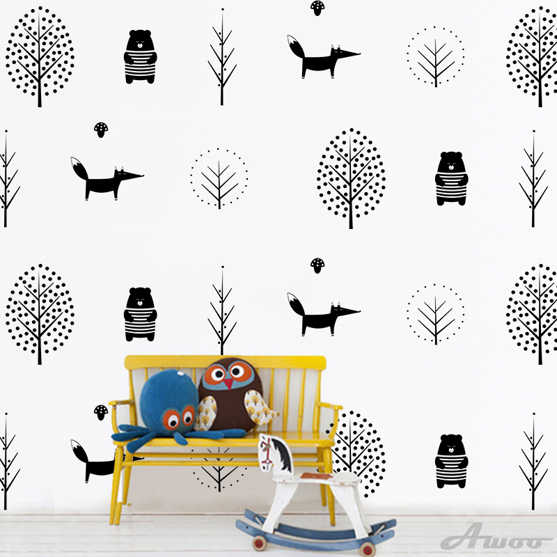 YQT064 Creative Plant tree Wall Stickers Wallpaper Furniture Cabinets Decal Kids baby Room Decoration Home Decor