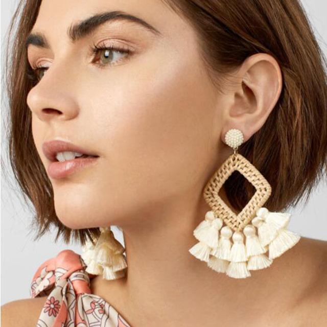 Classic Tassel Drop Dangle Earrings For Women