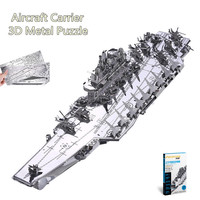 Piececool DIY 3D Liaoning CV 16 Aircraft Carrier Metal Puzzles 3D Assembly Model Kits Educational Toys