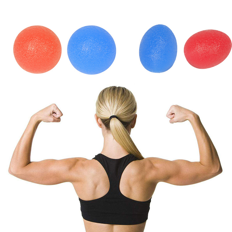 Silicone Hand Grip Ball Egg Shaped Colorful Stress Exercise Balls Strengthener Finger Expander Ball Sets For Rehabilitation