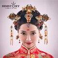 Retro de China Tradicional Joyería Del Pelo de la Boda Adornan Chino Antiguo Horquillas Accesorios para el Cabello de La Boda