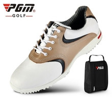 Brand PGM Genuine Leather Mens Tour 360 Boa Boost Waterproof Spiked Golf Sports Shoes Pro Tour Steady Spikes Sneakers XZ022/31