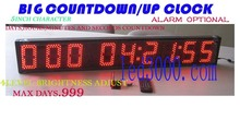 led clock(HST9-5R)5inch red color days,hours,minutes and seconds countdown