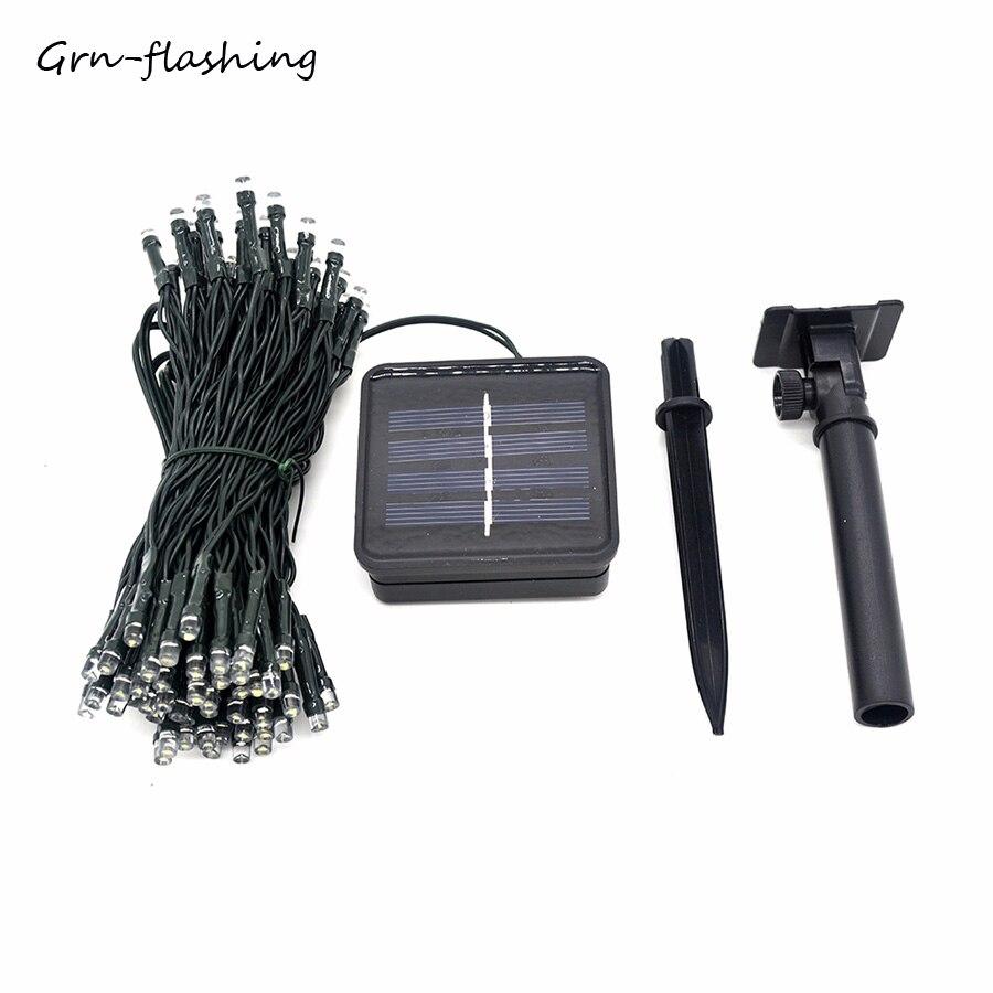 Outdoor Garden 12M 100 LED Solar Decor Christmas Flashing Fairy String Lights
