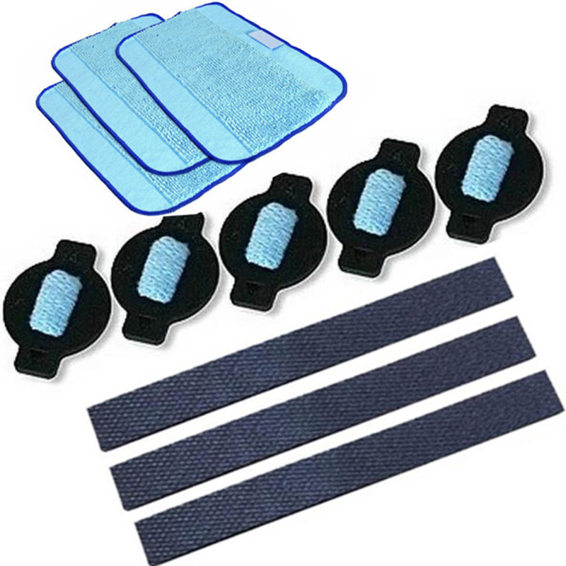 11pcs/lot robot wheel tire mop cloth water cap Replacment for iRobot braava 320 380 381 380T 390 390T Mint 4200 4205 5200 5200