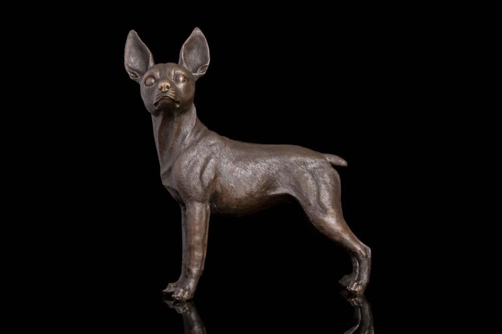 Голова художественных промыслов бронзовая скульптура ремесленные украшения Зодиак животных исследование домашнего интерьера вход украше