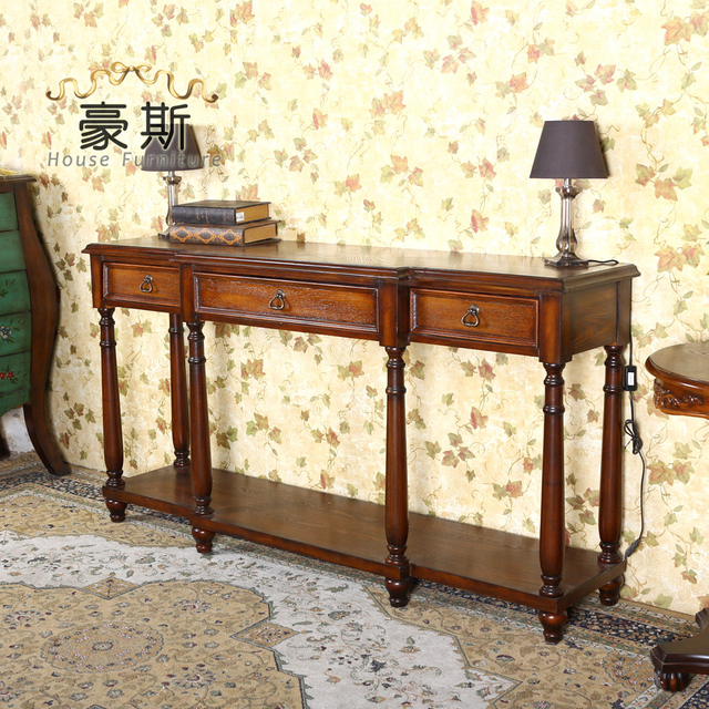 Estilo europeo y americano muebles antiguos casa vest bulo de entrada pone la mesa contra la - La contra muebles ...