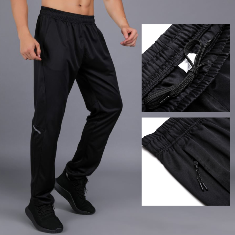 Men Sports Running Pants Pockets Athletic Football Soccer pant Training sport Pants Elasticity Legging jogging Gym TrousersRunning Pants   -