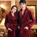 Осень и зима загущающие ватки любители халат пижамы женский зал мужской сверхдальние фланель халат
