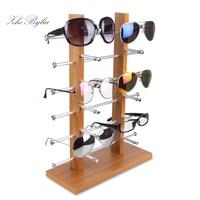 Luxury Oak Red Wood Sunglasses Myopia Glasses Display Stand Detachable Aluminum Alloy Jewelry Display Organizers Holder Z1117