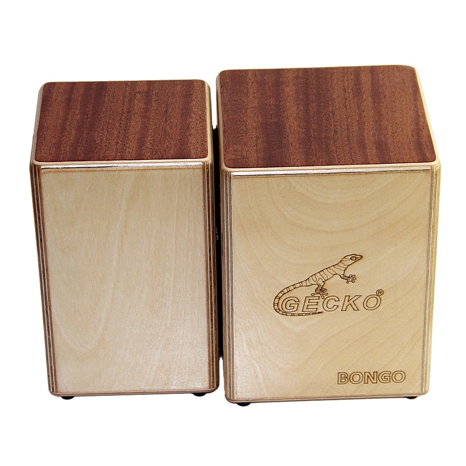 GECKO Cajon  BONGO-2 Two Siamese Birch Wood  Natural