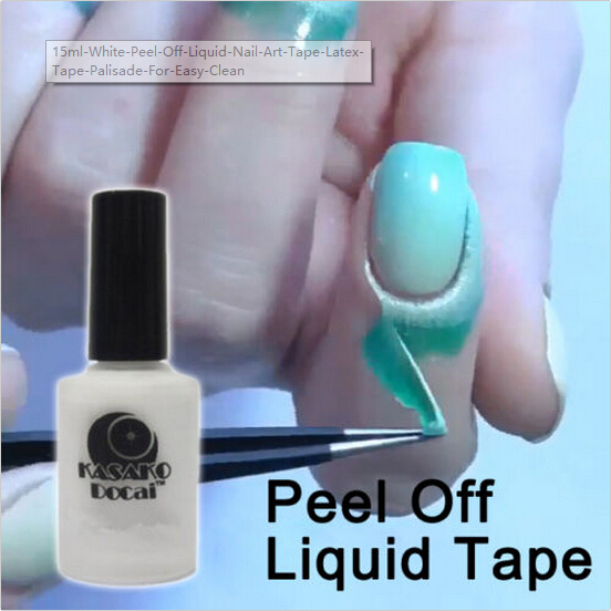 15ml White Peel Off Liquid Nail Art Tape Latex Tape Palisade For Easy Clean Base Gel Coat DIY Tool