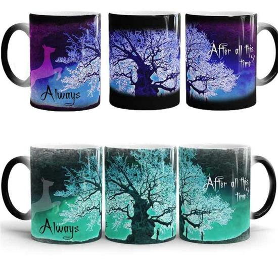 Harry Magic Mugs After All This Time Always Mysterious Purple Green <font><b>Life</b></font> Tree Fly Deer Color Changing <font><b>Cups</b></font> Creative Gifts
