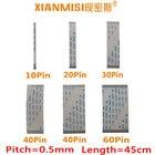 FFC/FPC Flat Flex Cable 10Pin 20Pin 30Pin 40Pin 50Pin 60Pin Same Side 0.5mm Pitch AWM VW-1 20624 20798 80C 60V Length 45cm 5PCS
