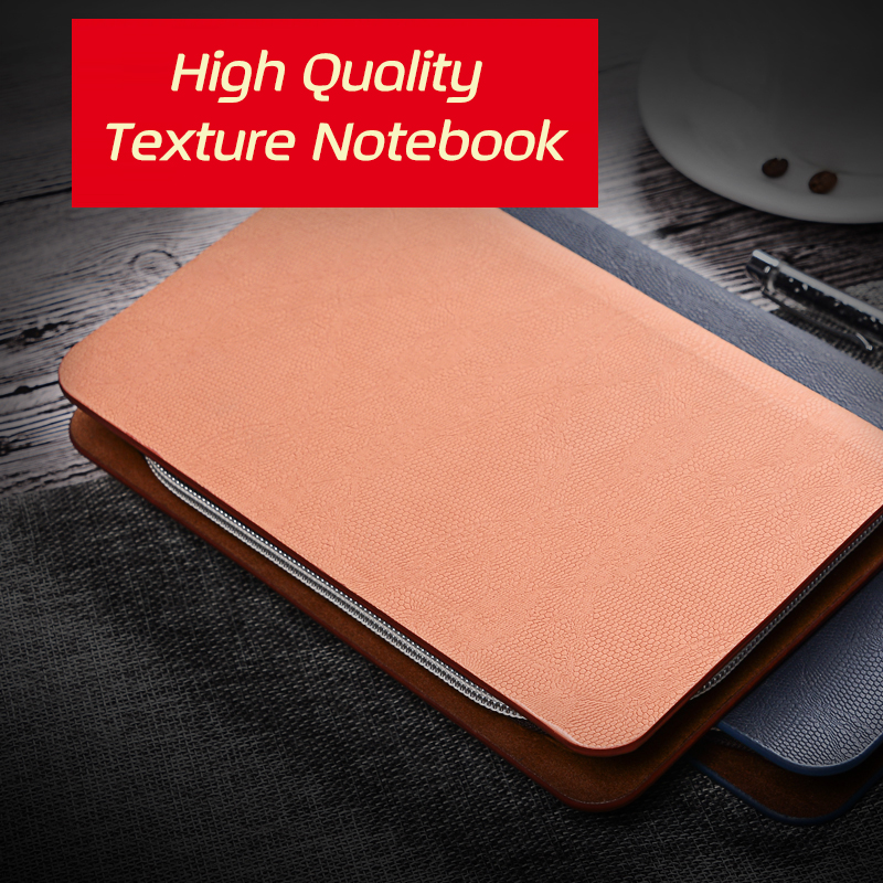 US $16 04 24% OFF|A5 A6 Spiral Zipper Leather Binder Business Notebook  Journal Planner diary week planner Organizer Agenda Loose Leaf Card Pack-in