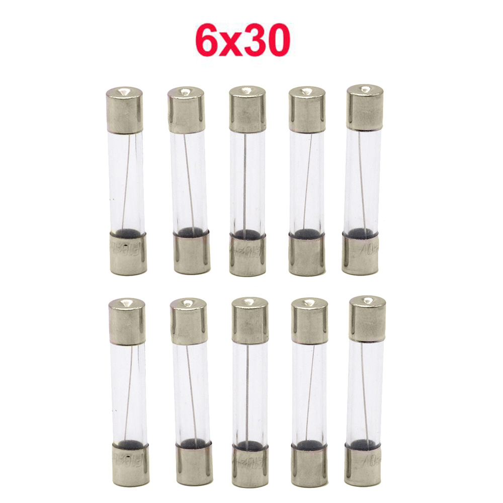 10pcs/lot One Sell 6*30mm Fast Blow Glass Tube Fuses 6x30 mm 250V 0.5 <font><b>1</b></font> <font><b>2</b></font> 3 4 5 6 8 <font><b>10</b></font> 15 20 25 30 A AMP Fuse image