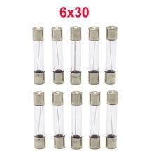 Lote de fusibles de tubo de vidrio de soplado rápido, 6x30mm, 250V, 0,5, 1, 2, 3, 4, 5, 6, 8, 10, 15, 20, 25, 30 A