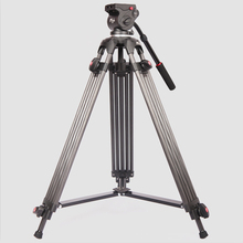 Jie Yang  professional  JY0606C Carbon tripod SLR cameras compatible with Manfrotto hydraulic head цена и фото