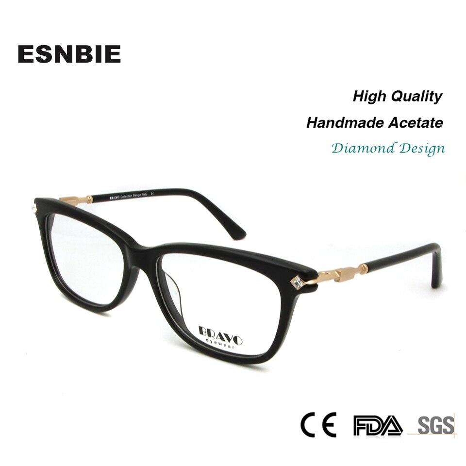 ESNBIE Qualität Brillen Rahmen für Frauen Diamant Glas Rahmen Mode ...