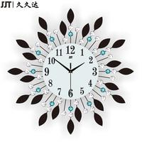 JJT Luxury Diamond Large Wall Clocks Crystal Glass Metal Wall Clock For Living Room Decoration