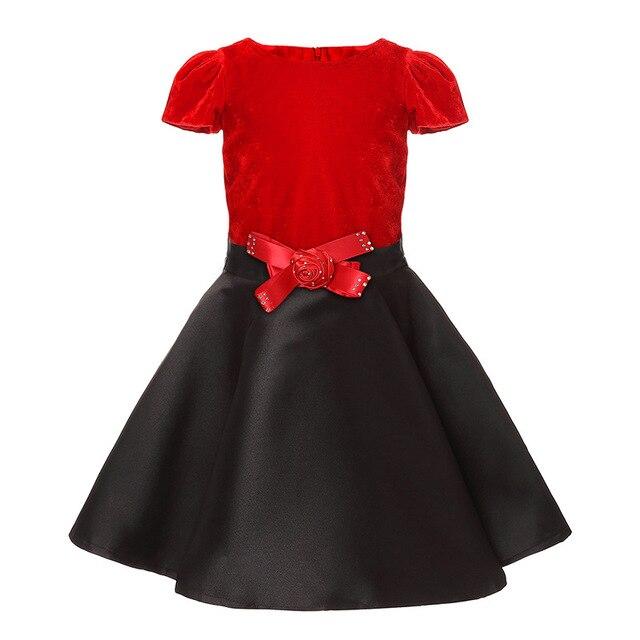 2785f1bad3fc5 Princesse Parti Robe 2017 Nouvelle Petite Fille De Noël Robes De Mode  Élégante Enfants Fleurs Robes