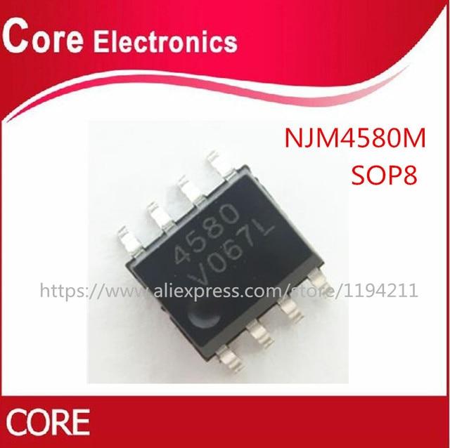 200 قطعة NJM4580M SOP8 NJM4580 SOP 4580M SMD SOP8 جديد