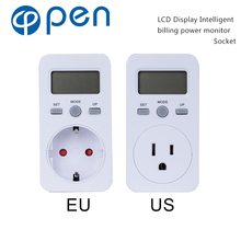 OPPM-002 EU/US/UK/FR/BR/AU LCD Display Intelligent billing power monitor Socket