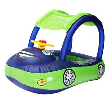 TOP obręcz do pływania dla dziecka osłona przeciwsłoneczna kierownica bezpieczne wakacje pływające letnie fotelik dla dziecka nadmuchiwane pływanie łódź zabawki basen z wodą tanie i dobre opinie Dziecko